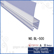 Belyn waterproof shower adhesive rubber seal strip for glass door side