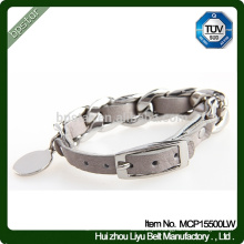 Bracelete De Couro, Metal Real Bracelet Braguita De Couro 2015 Pulseira De Moda De Couro