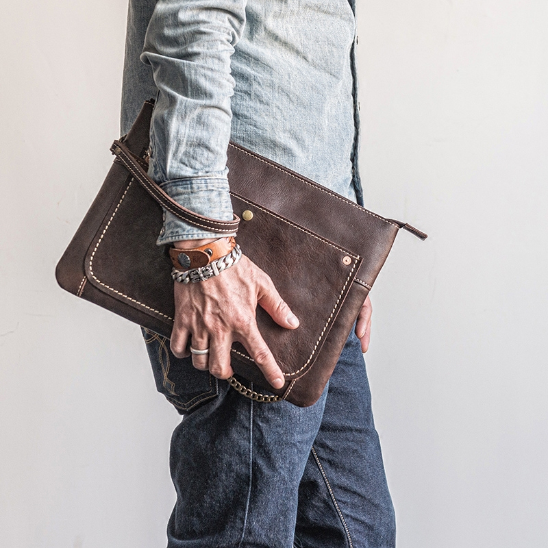 Men Clutch Bag Leather 4