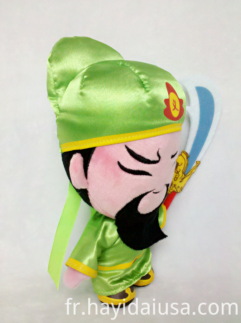 Mighty hero plush toy wear long gown and hat