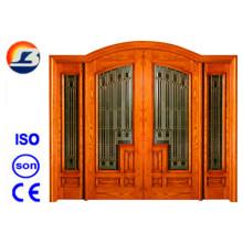 Design de estilo clássico Meranti Foliding Wooden Door