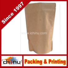 Kraft Paper Stand up Zipper Bolsas de café Bolsas con válvula (220099)
