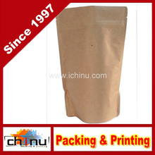 Kraft Paper Stand up Zipper Coffee Bags Pouches with Valve (220099)