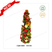 Conos de pino de Navidad H51cm plástico atractivo y bola de Navidad para la fiesta