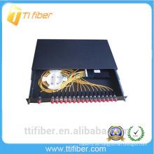 24port FC panel de conexiones de fibra deslizable para redes de telecomunicaciones, redes CATV