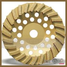 Turbo Diamond Grinding Plate Disco para concreto de pedra
