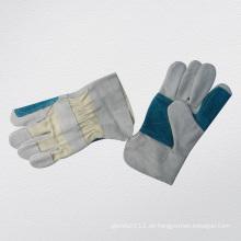 Rindspaltleder Doppel-Palmleder Manschette Arbeitshandschuh-3064