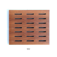 Fireproof Studio Decorative Grooved Sound Absorbing Board Perforated Wooden Timber Acoustic Panel