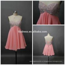 Девушки милая Necklline на заказ короткое мини-проекты вечерние наряды ED084 шифон короткие платья