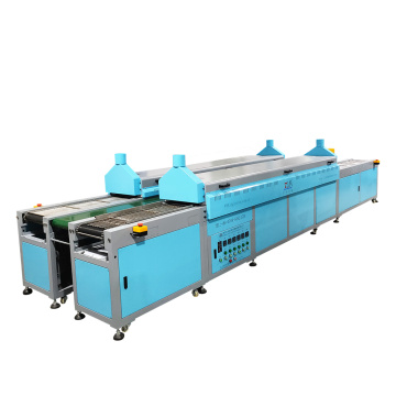 Kapasitas tinggi staping rubber pvc conveyor tunnel oven