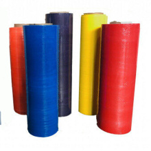 Eco-friendly Colorful Pre Stretched Hand Use Casting Plastic LLDPE Stretch Film for packaging