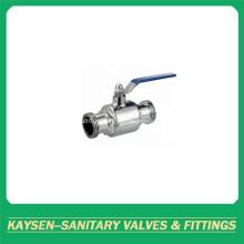 Шариковый клапан с прямой резьбой DIN Hygienic