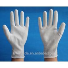 Anti luvas estáticas de fibra de carbono revestidas com pu palm