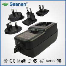 Adaptador de CA de 36 vatios con enchufes de CA intercambiables para dispositivos móviles, decodificadores, impresoras, ADSL, audio y video o electrodomésticos