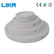 Runde trimmlose 7W oberflächenmontierte LED-Flächenleuchte