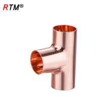 J17 4 10 1 ASME B16.22 equal tee cxcxc water copper pipe nipple fitting