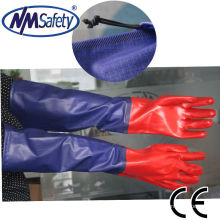 NMSAFETY long sleeve pvc safety working gloves