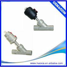 Série JZF Válvula de assento em ângulo inoxidável com atuador