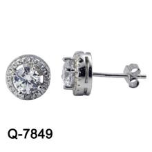 Nueva joyería de plata de los pendientes de la manera del diseño 925 (Q-7849. JPG)
