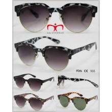 2016 gafas de sol de plástico de moda medio borde (wsp510407)