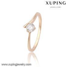 13809 Xuping nouveau design or plaqué femmes anneaux