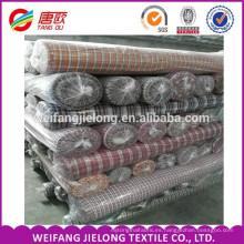 tela teñida de hilado de algodón para camisas de tela de cuadros de algodón hecho en China