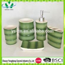New Design China Bamboo Shape Bathroom Set