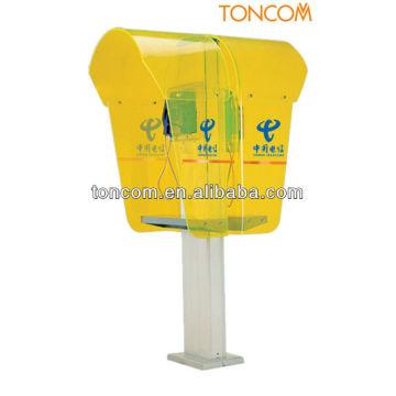 пластиковая телефонная будка