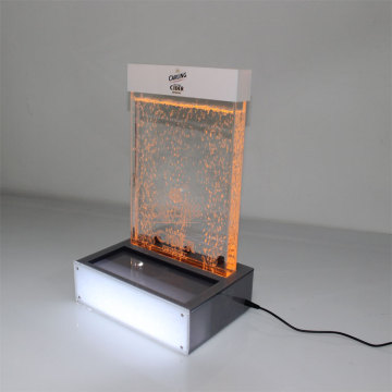 Apex bubble-stijl acryl led whisky e vloeibare fles display