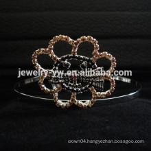 hair accessories wholesale crystal cat head tiara metal hair band