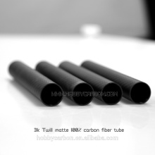 Em linha reta 3KTwIll Matte Fibra De Carbono Booms, 25mm Tubos De Carbono Dobrado de hobbycarbon