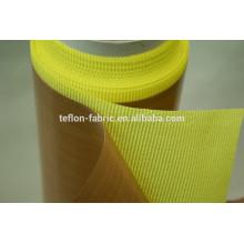 Teflon tecido de fibra de vidro revestido com adesivo com folha de liberação
