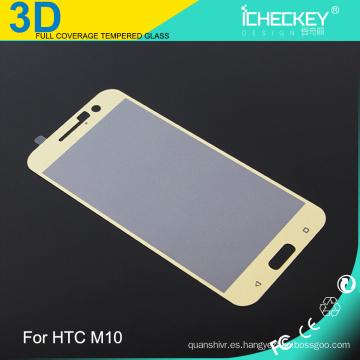 Teléfono móvil con protector de pantalla de cristal templado de 0,33 mm cubierta completa 3D para HTC M10