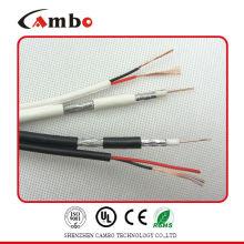 Коаксиальный кабель RG6 сиамский медный плакированный алюминий 75ohm
