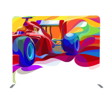 10ft custom logo Trade show portable backdrop wall tension fabric straight display stand for advertising