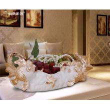 Hot sale home decor craft customized ornament animal goldfish fruit plate fruit tray