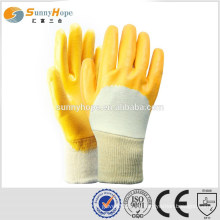 Strick Handgelenk gelb flache Schutzhandschuhe