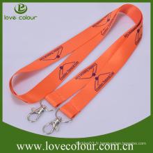 Nouveau cordon sublimé avec carte personnalisée à double crochet avec logo personnalisé