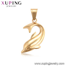 34208 xuping fashion 18k couleur or pendentifs animaux dauphin charmes