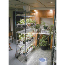 Free Standing Adjustable Metal Plant Wire Shelving with Wheels (CJ15045180A5C)