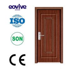 madeira de alta qualidade interior banheiro flush perfil de porta de PVC