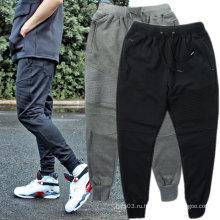 Обычные тощие мужские бега трусы Брюки повседневные брюки хлопок