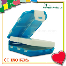 Boîte de pilule de stockage de plastique pliante