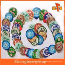 Guangzhou Zhongbao venda por atacado personalizam a grade de alimento cortou copos do yogurt tampas da folha