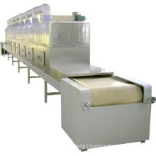 Dehydrator type continuous belt microwave conveyor dryer for shrimp shell