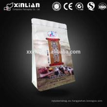 Personalizado impreso stand up bolsa de empaquetado de alimentos gusset lateral