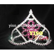 Farbige Mode Kristall Blume Tiara