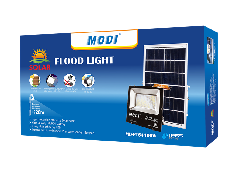 400W Solar Flood Lights with Carton package