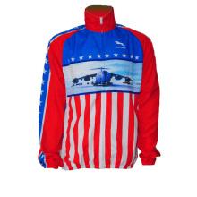 Frauen-Fahrrad-Jersey-lange Hülse USA-Art (CYC-10)