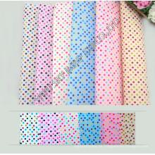 Heißer Verkauf Lager 100% Polyester Gedruckt Mikrofaser DOT Stoff Breite 150 cm für Heimtextilien